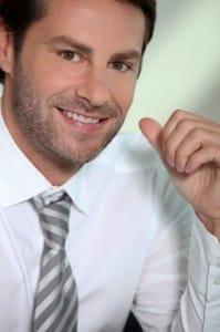 Smiling executive recruiter