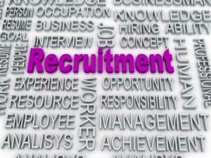 3d image about recruitment concept